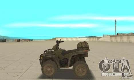 Novo Atv para GTA San Andreas esquerda vista