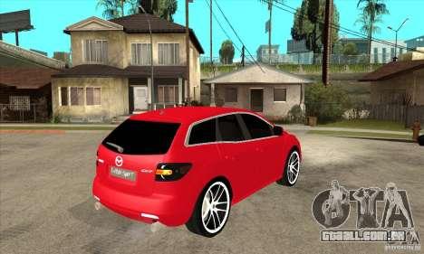 Mazda CX-7 para GTA San Andreas vista traseira