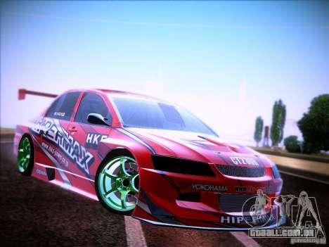 Mitsubishi Lancer Evolution 9 Hypermax para GTA San Andreas vista direita