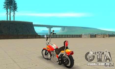 Harley Davidson softail Skin 2 para GTA San Andreas
