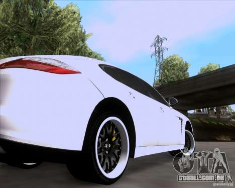 Porsche Panamera 970 Hamann para GTA San Andreas vista traseira