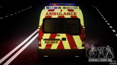 Renault Master 2007 Ambulance Scottish [ELS] para GTA 4 motor