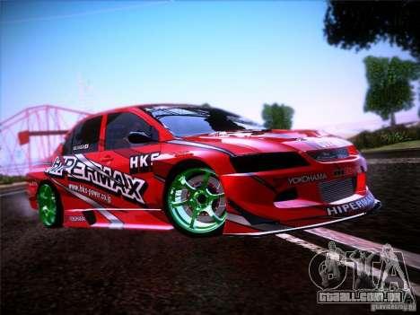 Mitsubishi Lancer Evolution 9 Hypermax para vista lateral GTA San Andreas
