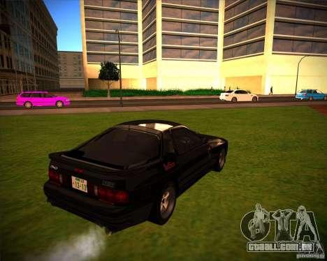 Mazda RX-7 FC3S para GTA San Andreas traseira esquerda vista