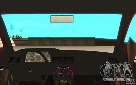Mercedes-Benz 190 E (W201) 1984 version 1.0 para GTA San Andreas vista traseira