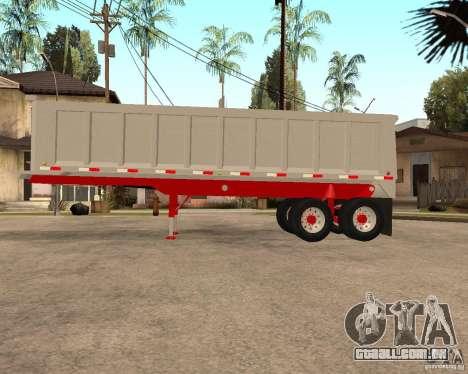 Artict3 Dump Trailer para GTA San Andreas esquerda vista