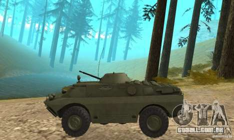 BRDM-2 Standard Edition para GTA San Andreas traseira esquerda vista