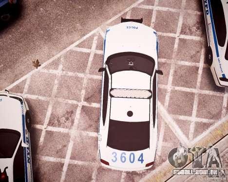 Dodge Charger 2010 NYPD ELS para GTA 4 vista superior