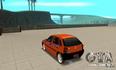Volkswagen Gol G4 Taxi para GTA San Andreas traseira esquerda vista