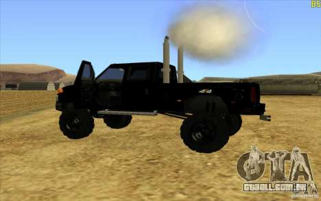 GMC Topkick Ironhide TF3 para GTA San Andreas esquerda vista