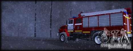 Ural 43206 AC 3.0-40 para GTA San Andreas esquerda vista