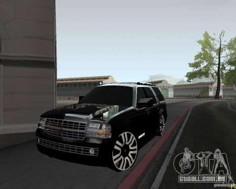 Lincoln Navigator para GTA San Andreas vista direita