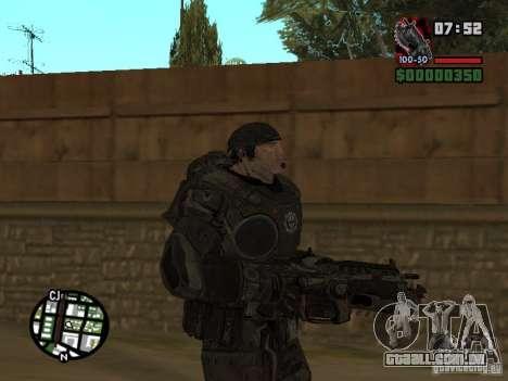 Marcus Fenix do Gears of War 2 para GTA San Andreas segunda tela