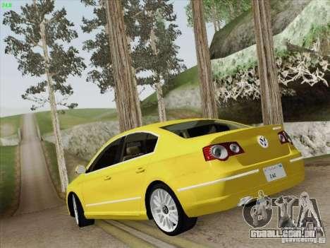 Volkswagen Magotan 2011 para GTA San Andreas vista inferior