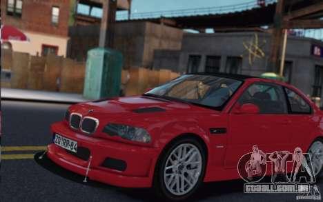 BMW M3 Street Version e46 para GTA 4 esquerda vista