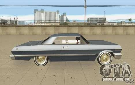 Voodoo para GTA San Andreas vista interior
