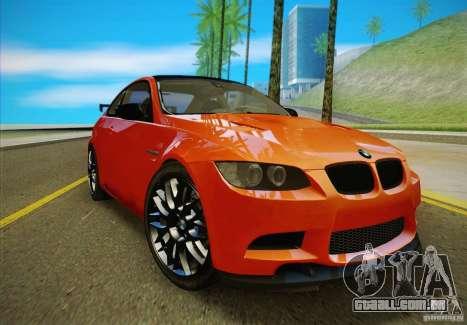 BMW M3 GT-S Final para GTA San Andreas vista direita