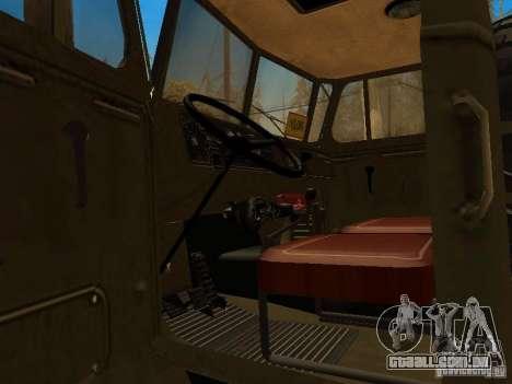 Ural 4320 para GTA San Andreas vista direita
