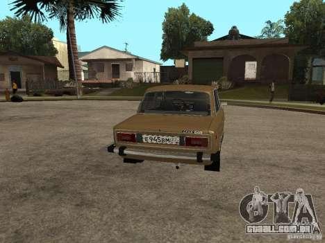 VAZ 21063 para GTA San Andreas traseira esquerda vista