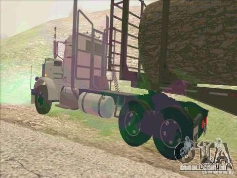 Peterbilt 379 para GTA San Andreas traseira esquerda vista