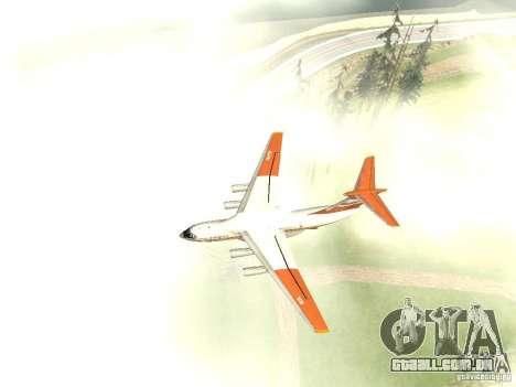 Ilyushin 76 TD (bombeiro) para GTA San Andreas traseira esquerda vista