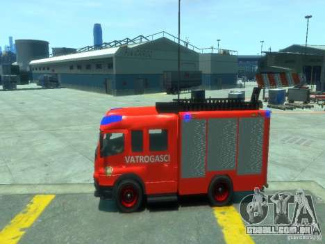 Mercedes-Benz Atego Fire Departament para GTA 4 esquerda vista