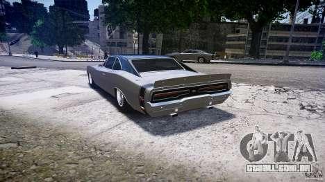 Dodge Charger RT 1969 tun v 1.1 baixo passeio para GTA 4 traseira esquerda vista