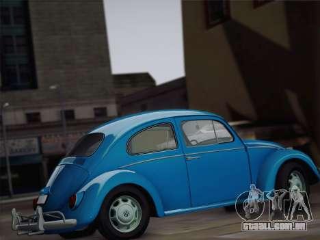 Volkswagen Beetle 1967 V.1 para GTA San Andreas vista interior