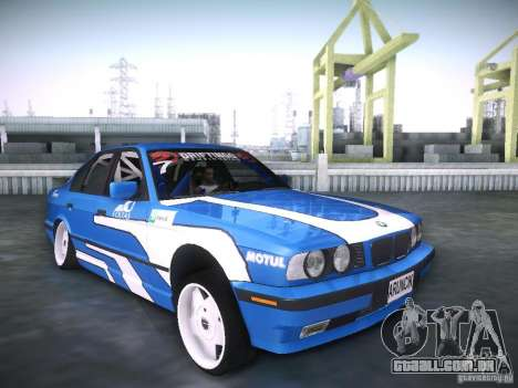 BMW E34 Drift para GTA San Andreas vista direita