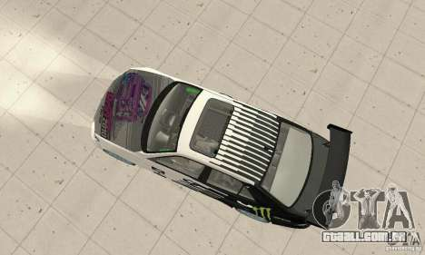 Lexus IS300 Drift Style para GTA San Andreas traseira esquerda vista
