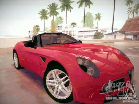 Alfa Romeo 8C Spider para GTA San Andreas vista direita