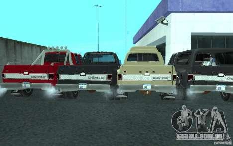 Chevrolet Silverado 3500 para GTA San Andreas vista inferior