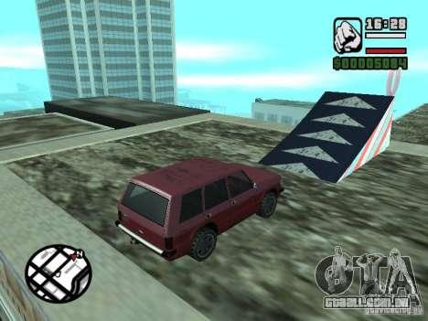 Salão do automóvel para GTA San Andreas sétima tela