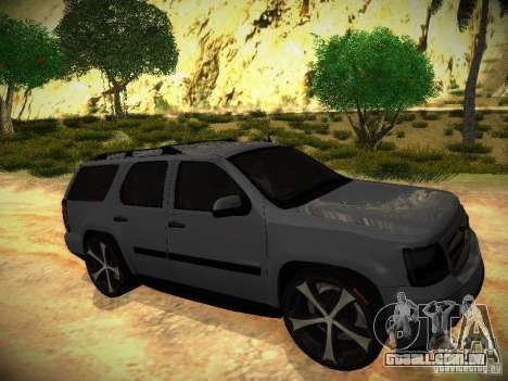 Chevrolet Tahoe HD Rimz para GTA San Andreas vista direita