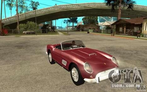Ferrari 250 California 1957 para GTA San Andreas vista traseira