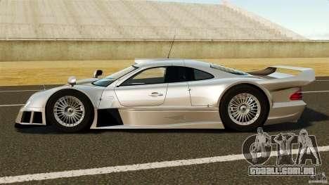 Mercedes-Benz CLK GTR AMG para GTA 4 esquerda vista