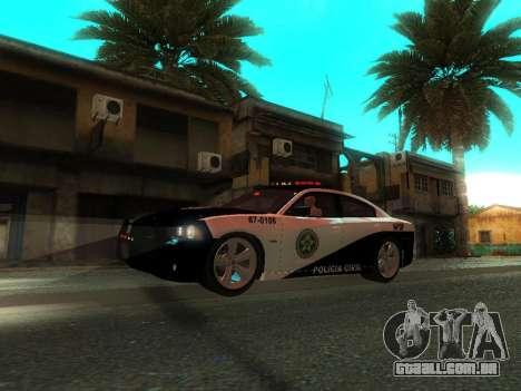 Dodge Charger SRT8 Police para GTA San Andreas vista superior