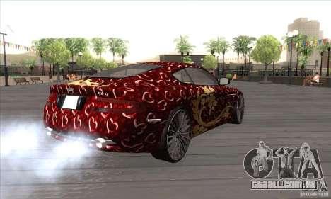 Aston Martin DB9 Female Edition para GTA San Andreas vista direita