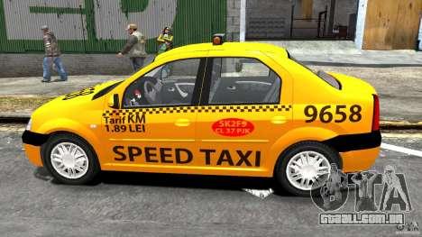 Dacia Logan Prestige Taxi para GTA 4 esquerda vista