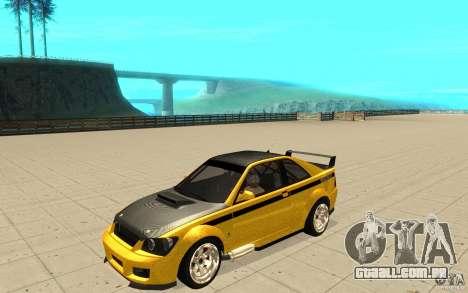 GTA IV Sultan RS FINAL para GTA San Andreas vista inferior