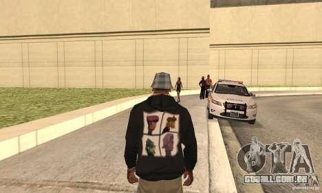 Gorillaz skin para GTA San Andreas segunda tela