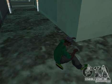 Novos tênis verdes para GTA San Andreas terceira tela