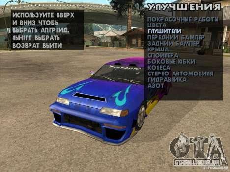 Ajuste a máquina em qualquer lugar para GTA San Andreas sexta tela