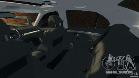 Saab 9-3 Turbo X 2008 para GTA 4 vista interior