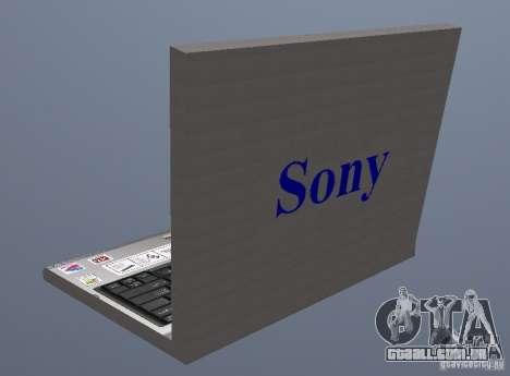 Laptop Haft-Bombe para GTA San Andreas segunda tela