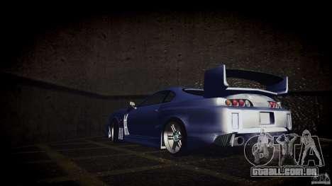Toyota Supra Tuned para GTA San Andreas traseira esquerda vista