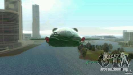 ThunderBird 2 para GTA Vice City deixou vista