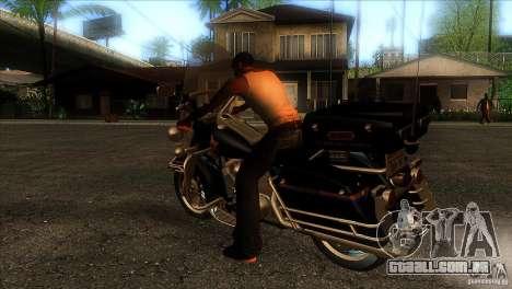 Harley Davidson para GTA San Andreas traseira esquerda vista