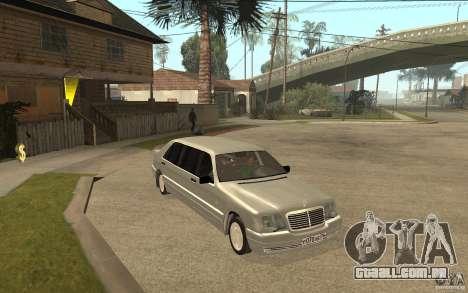 Mercedes-Benz S600 W140 1998 Pullman para GTA San Andreas vista traseira