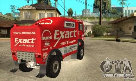 MAN TGA Rally OFFROAD para GTA San Andreas vista traseira